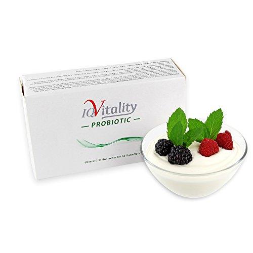 IQ-Vitality Joghurtkulturen, Natur-Joghurt selber machen, Joghurtpulver vegan, Enthält wertvolle Bifidobakterien und Lactobacillus acidophilus, 4x10g