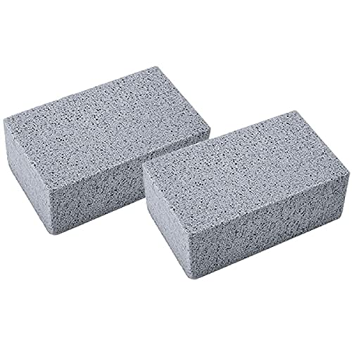 ZYJL Grill Griddle Cleaning Brick Block, Grill Stone/Griddle Cleaner Block, De-Scaling Cleaning Stone, Grill Brick for Flat Top Grills and Griddles (2Pcs)