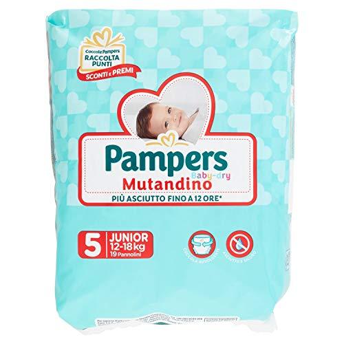 Pampers Pannolini Mutandino Junior Taglia 5 (12-18 kg), 19 Pannolini