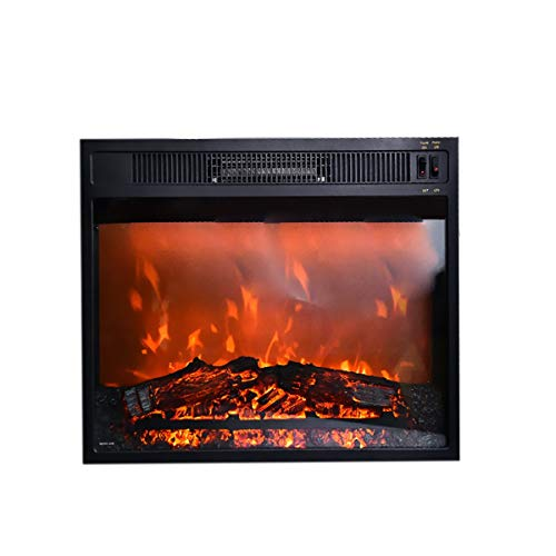 DYHA Electric Fireplace Suites Realistic LED Flame Effect Electric Fires Freestanding Remote Control Multi Colour Flames With Adjustable Thermostat Control 750/1500W Heater