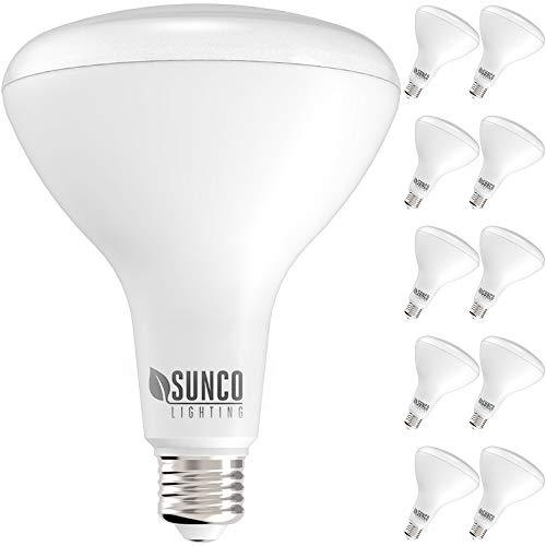 Sunco Lighting 10 Pack BR40 LED Bulb, 17W=100W,...
