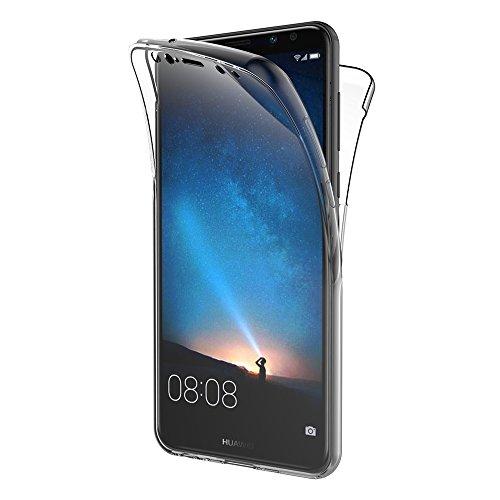 AICEK Cover Huawei Mate 10 Lite, 360° Full Body Cover Mate 10 Lite Silicone Case Molle di TPU Trasparente Sottile Custodia per Huawei Mate 10 Lite (5.9 Pollici)