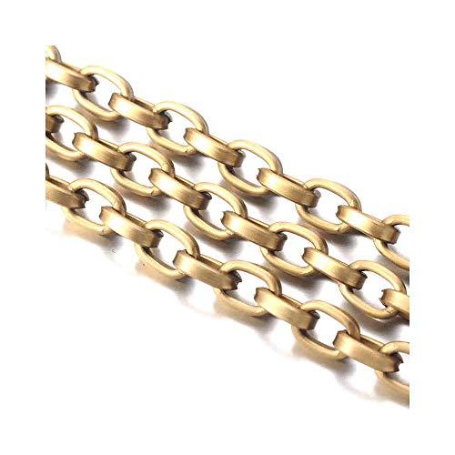 Cadena punto forcat en aluminio () 1 m, color bronce, tamaño: 8...
