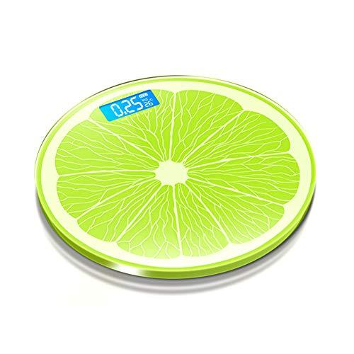 Creatieve persoonlijkheid Handige elektronische citroen gevormde weegschaal, robuust gehard glas, usb opladen, gemakkelijk te lezen heldere led scherm