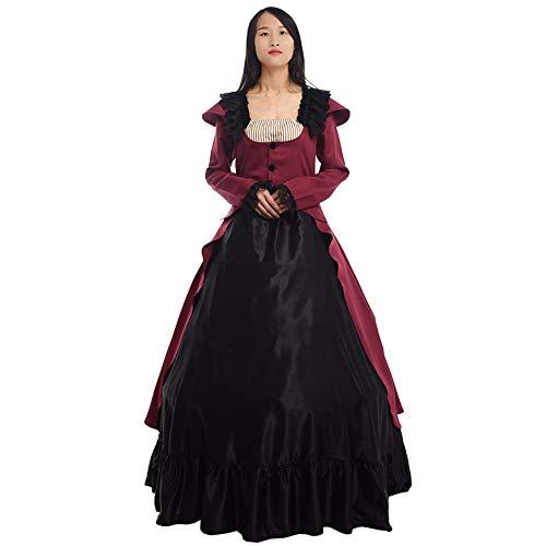 GRACEART Lolita viktorianisches dünnes Kleid Treiben Vintage Reenactment Kostüm Ballkleid Gothic (2XL)