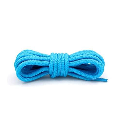 1 par de cordones redondos de poliéster sólido clásico Martin Boot Cordones Casual Deportes Botas Zapatos de encaje 90 cm/120 cm/150 cm, 21 colores, azul cielo, Estados Unidos