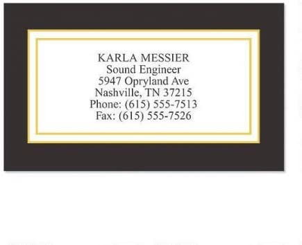 Black Classic Business Cards - Set of Max Max 80% OFF 50% OFF 3-1 bus 2