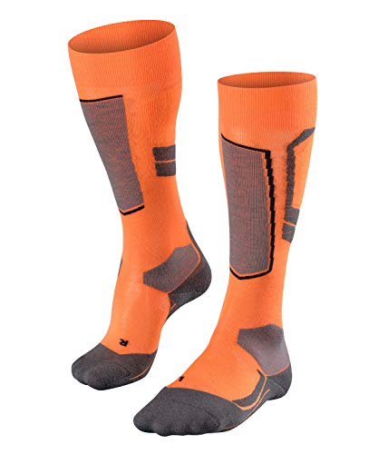 FALKE Damen, Skisocken SK4 Wool Merinowollmischung, 1 er Pack, Orange (Flash Orange 8034), Größe: 41-42
