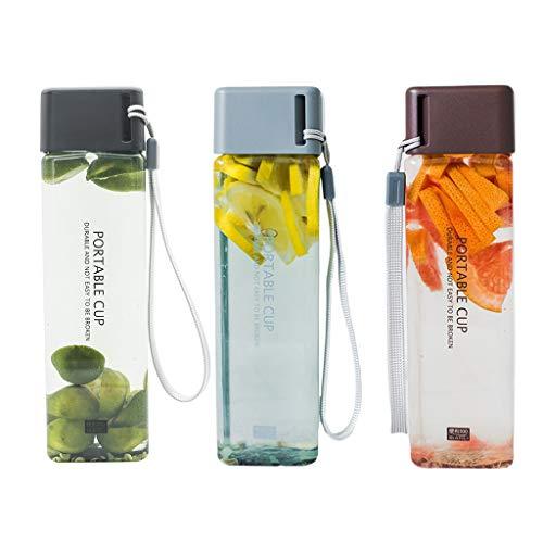 ZJL220 - Botella de agua para almacenamiento de leche deportiva y beber una taza clara para la oficina de la escuela en casa
