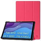ZhaoCo Funda Protectora Compatible con Lenovo Tab M10 HD (2ª Generación, Versión 2020) 10.1'' Tableta TB-X306X / TB-X306F, Fucsia