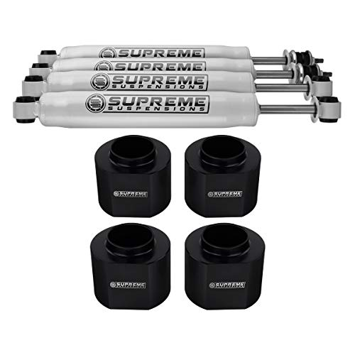 """Supreme Suspensions - Full Lift Kit for 1997-2002 Jeep Wrangler TJ 3"""" Front + 3"""" Rear Lift Spring Spacers + Pro Performance Series Shocks 2WD 4WD"""