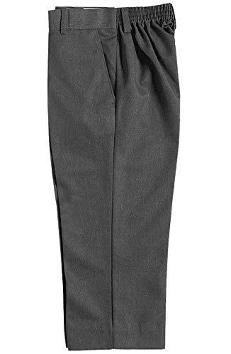 Islander Fashions Pantalones con Cremallera y Clip en la Cintura el�Stica para ni�os Pantalones de tefl�n para ni�os de Uniforme Escolar Gris 15-16 a�os