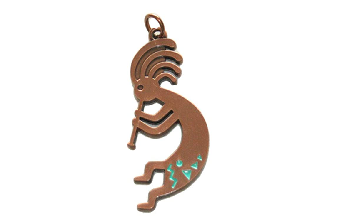 Kokopelli Necklace Charm (Bronze)