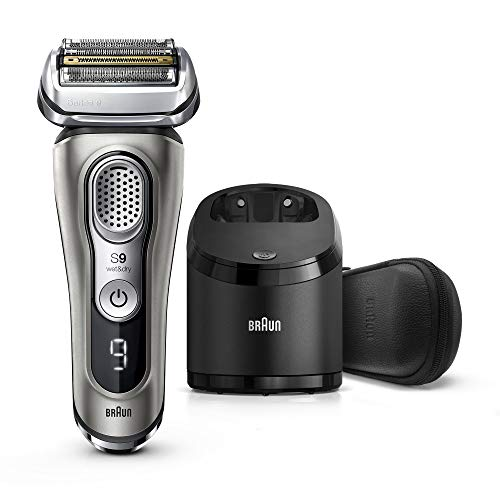 Braun Electric Razor for Men Series 9 9385cc Electric Shaver PopUp Precision Trimmer Rechargeable Cordless Foil Shaver Clean amp Charge Station and Leather Travel Case Graphite
