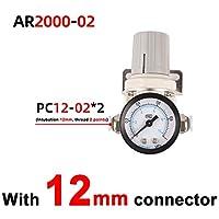 圧力調整器の空気 AR2000-2 AR3000-3空気圧調整器の圧力調整器圧力低減バルブ圧力ゲージ 燃圧レギュレーター (Color : Brown)