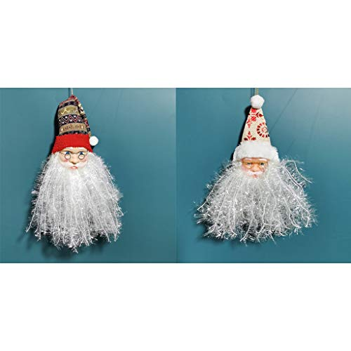 NKDD 2 Piezas Barba Santa Claus Muñeca Decoraciones para árboles de Navidad Adornos Colgantes Adornos navideños Muñecas Colgantes