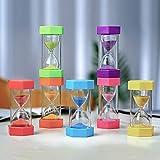 HDDH Reloj de Arena para niñosTemporizador,Conjunto de Reloj de arenaGestión del Tiempo Hecha por uno Mismo(3/5/7 Piezas 1/3/5/10 /15/30/45/60minutos)