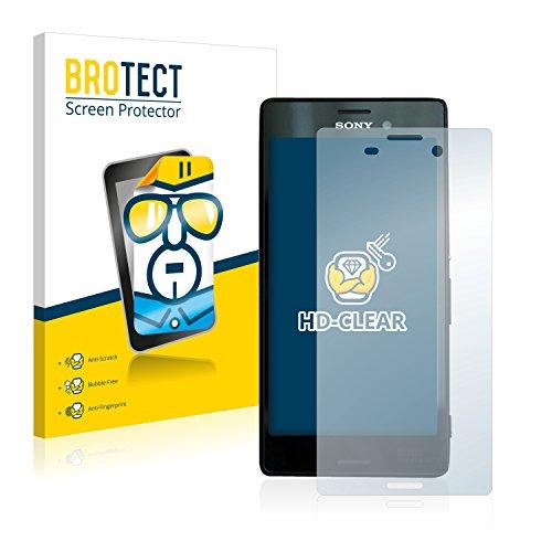 BROTECT Schutzfolie kompatibel mit Sony Xperia M4 Aqua (2 Stück) klare Bildschirmschutz-Folie