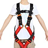 HandAcc Kids Full Body Harness, Youth Climbing Safety Harness Seat Belts for Outdoor Expanding Training Caving Rock Climbing Rappelling Equipment