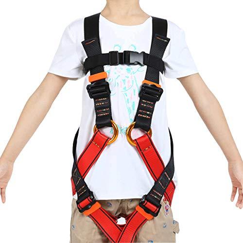 HandAcc Kids Climbing Harness, Youth Safety Zipline Harness Belts for Outdoor Expanding Training Caving Rock Climbing Equipment