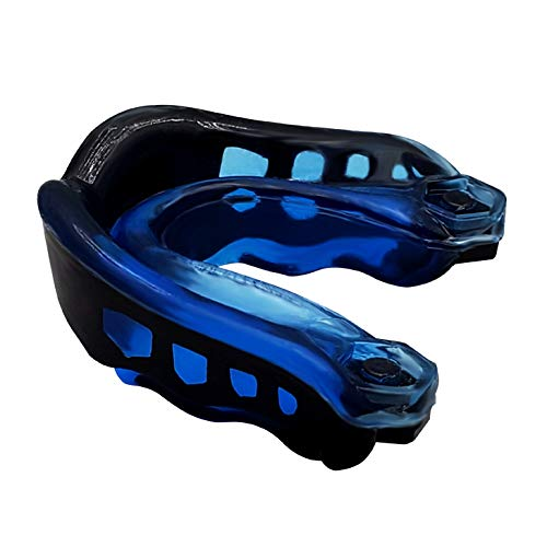 SDFIT Mouth Guard/Dental Guard - Slim Fit for All Football MMA, Boxing, Hockey, Basketball, Judo & All Contact Sports with Mouthguard Case for Adult & Youth with Gel to Protect Braces (Blue)