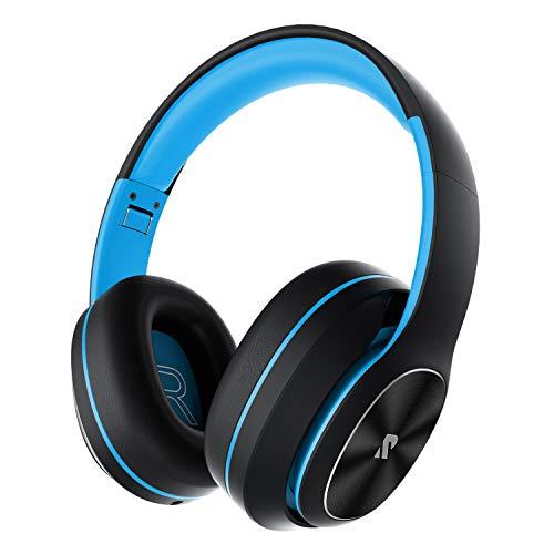 Rydohi Auriculares Inalámbricos Diadema, [100 Hrs de Reproducción] Hi-Fi Sonido, Cascos Bluetooth Micrófono Incorporado y Doble Controlador de 40 mm, para Móviles/Xiaomi/TV (Azul)