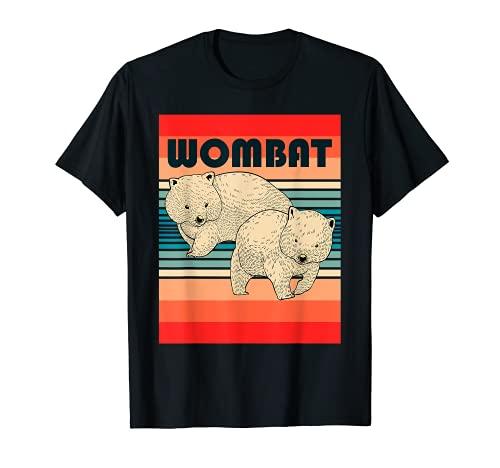 Wombat Mochilero Viaje Con La Mochila Animal Australiano Camiseta