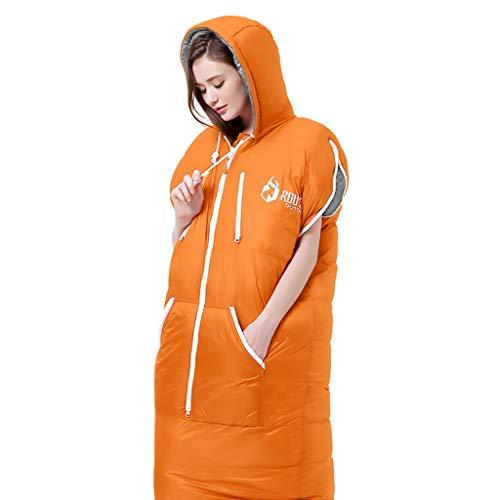 CATRP-Sac de couchage pour Adultes CampingTravel Épaissir Protection Contre Le Froid, Personne Seule, 4 Couleurs, 3 Sortes De Poids (Color : Orange, Size : 2kg)