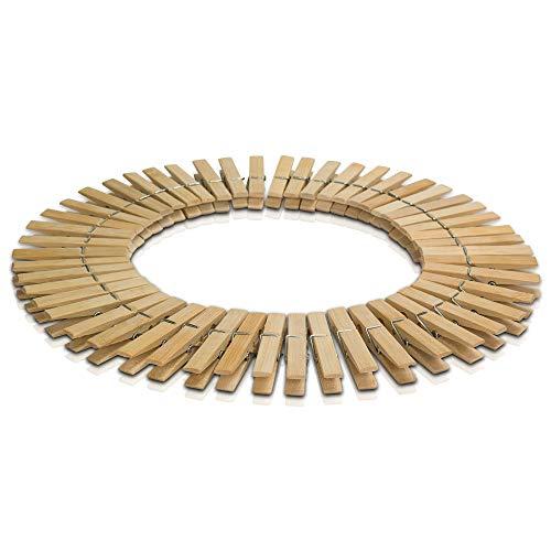Minify PANDAKISTE 50 mollette da bucato in bambù, 7,2 x 1,0 x 1,2 cm