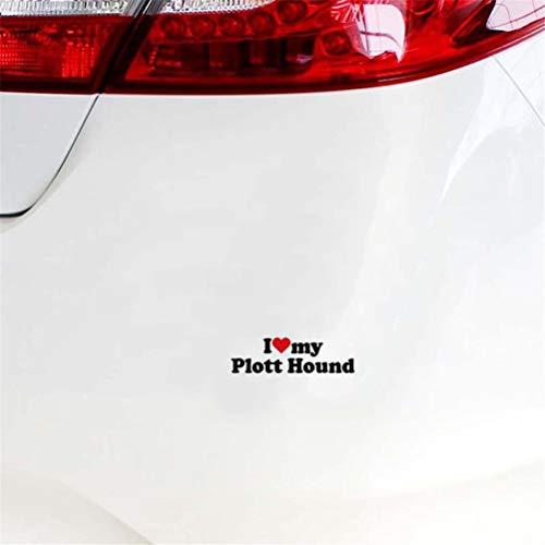 Sticker auto Ik hou van mijn plott Hound Sticker Decal voor raamdecoratie voor woonkamer