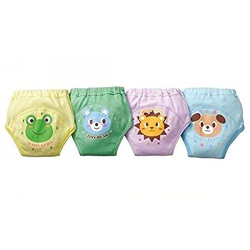 Tancurry Tancurry Baby Mächen Jungen 4Pcs Training Pants Kleinkind Trainerhosen Töpfchentraining Unterwäsche