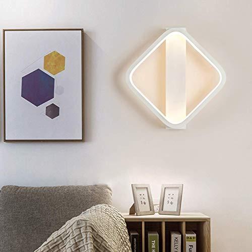Aplique de Pared para Interior Led 16W Lámpara de Pared Moderna Acrílico + Material de Aluminio Iluminación de Pared Art Square Deco Lámpara para Estudio Sala de Estar Be