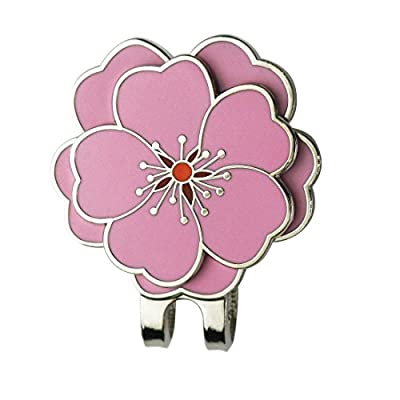 PINMEI Flower Golf Ball Marker with Golf Hat Clip for Your Friend (Flower Clip)