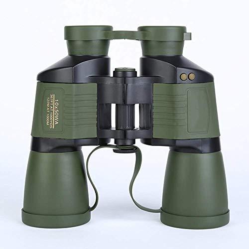 Nuokix Binoculares, Monocular telescopio binoculares 10X50 prismáticos de alta definición al aire libre for adultos viajes de bajo luz de visión nocturna enfoque automático Telescopio Green Life 190 *
