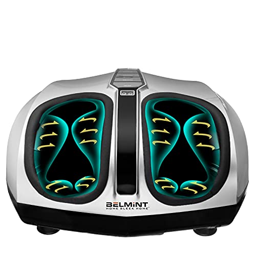 Belmint Shiatsu Foot Massager with Heat - Fathers Day Gift, Electric Deep-Kneading Massage Machine with Air Compression - Pain Relief for Plantar Fasciitis, Neuropathy, Arthritis and Tired Feet