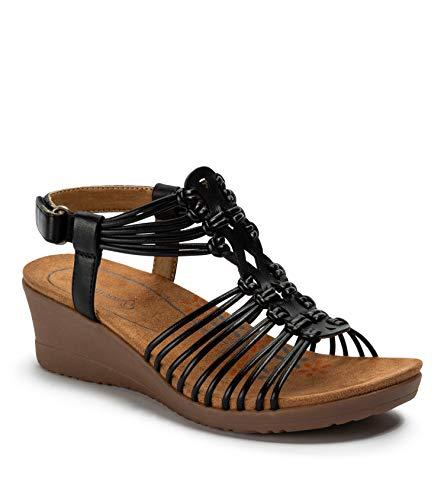 BareTraps Women's Taren Sandal Black 7 M