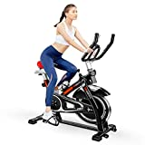 ODOGYM Indoor Cycling Bike Stationary - Exercise Bike with Comfortable Seat Cushion, Phone/Ipad Bracket, Heavy Flywheel and LCD Monitor for Home Gym