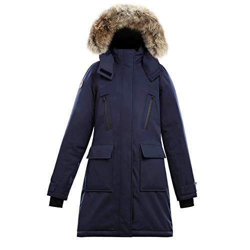 Triple F.A.T. Goose Aisen Collection | Suvo Waterproof Womens Down Jacket (Small, Navy)