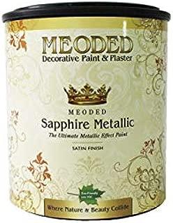 Meoded Paint and Plaster | Sapphire Metallic Paint | SM 1000 Pearl White Metallic Wall Paint | Metal Paint | 1 Quart