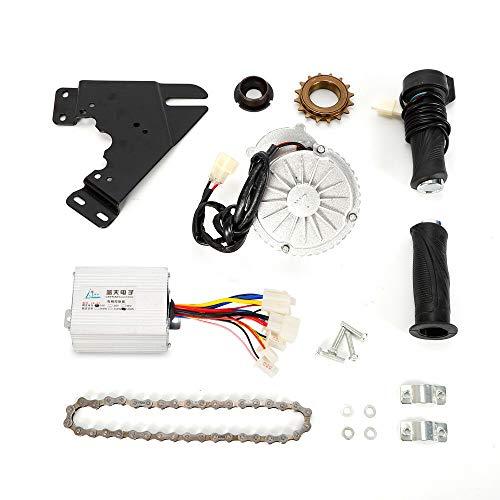 24V 450W Electric Bike Conversion Kit, Common Bike Right Chain Drive Convert Bicycles into Electric Vehicles Bicycle E-Bike, DIY Twist Thumb Kit