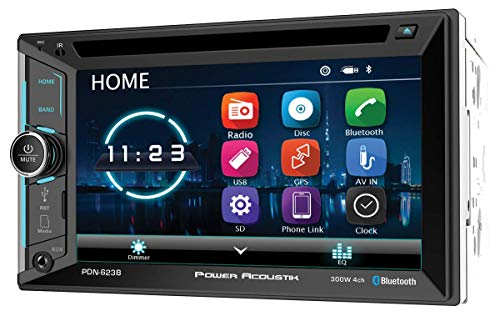 Power Acoustik PDN-623B Double DIN with 6.2-inch LCD, DVD, CD/MP3 Car Stereo with Bluetooth and GPS Navigation (Renewed)