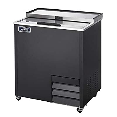 Arctic Air AGF36 36-Inch 4-Shelf Glass Froster with Sliding Lid, Black, 1/6-HP, 115v