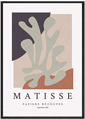 HHLSS Póster Obras de Arte 40x60cm sin Marco Matisse Abstracto Beige Plantas Tropicales Carteles Famoso Pintor fauvista Sala de Estar Planta Arte Impresiones Decoración