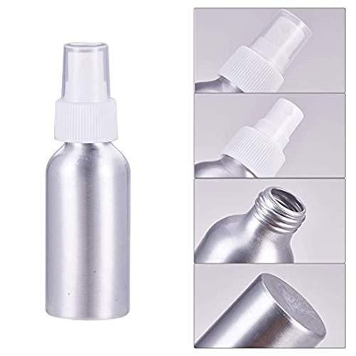 CAVIVI Bouteilles de pulvérisation essentielles en aluminium Parfum rechargeable Atomiseur à brume fine Beauté vide Bouteilles de pulvérisation en métal Emballage cosmétique Bouteilles de voyage,blanc