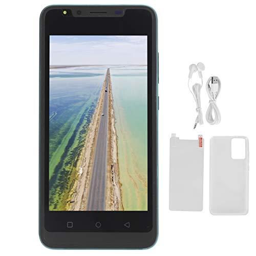 Garsentx Teléfono Inteligente 3G Desbloqueado 512 MB + 4 GB Teléfono Celular con desbloqueo de cámara Dual con reconocimiento Facial 5.0 Pulgadas Soporte para teléfono Inteligente Desbloqueado(Green)