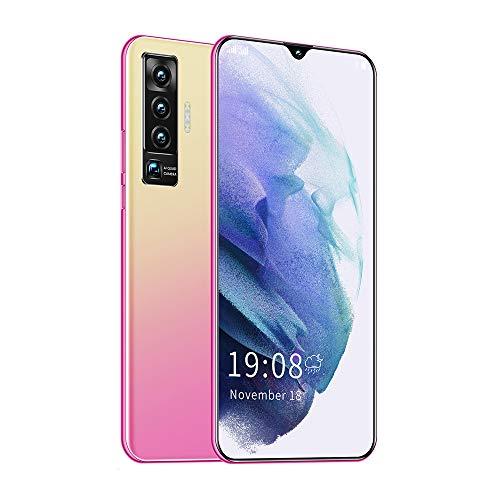 mobile phone Smartphone de Pantalla Grande de 6.7 Pulgadas con Android Negro/Azul/Rosa Dorado con Pantalla de Gota de Agua, función de desbloqueo de Huellas Dactilares, reconocimiento Facial