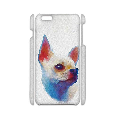 Phone Cases Hard Plastic Girls Print with Chihuahua 6 Compatible with Apple iPhone 6 6S Lovely Choose Design 125-5
