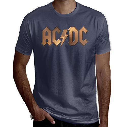 Grappige nieuwigheid ACDC heren T-shirt met korte mouwen Tee Perfect voor verjaardag Kerstmis of geschenk voor herdenking dag