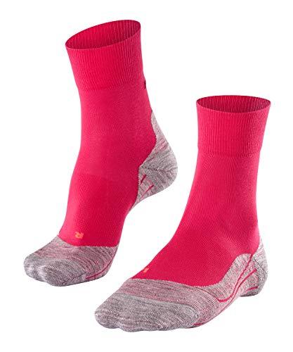 FALKE Damen, RU4 Laufsocken, Wadenlange Runningsocke mit Baumwolle leichte Dämpfung für blasenfreies Laufen auf mittleren bis längeren Strecken, Rosa (Rose 8564), 37-38, 1er Pack