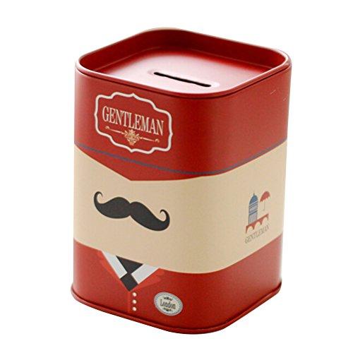 OUNONA Hucha con diseño de Lata de la Barba Rojo